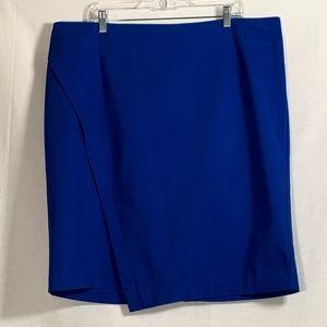 Lane Bryant womens skirt plus size 20 blue pencil